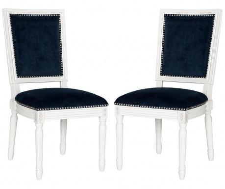 Zestaw 2 krzeseł Madie Navy Velvet