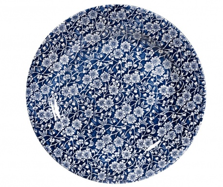 Zestaw 6 talerzy płaskich Victorian Dark Blue & White