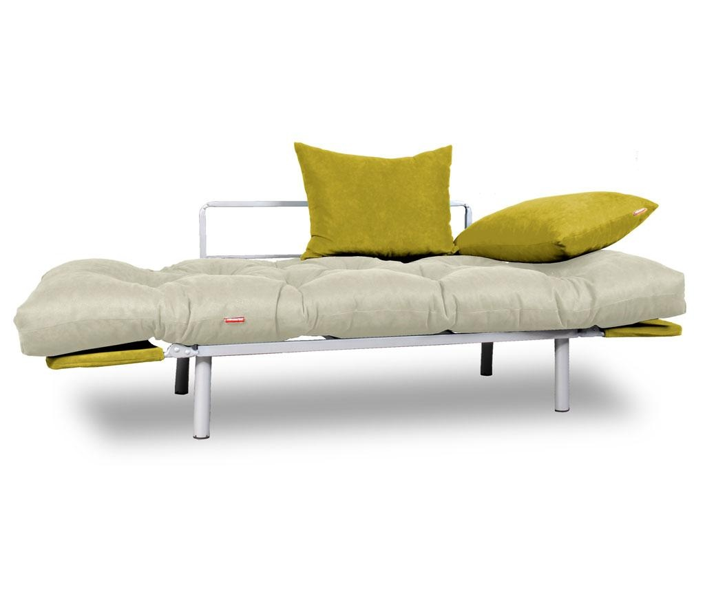 Kauč na razvlačenje Relax Cream Yellow