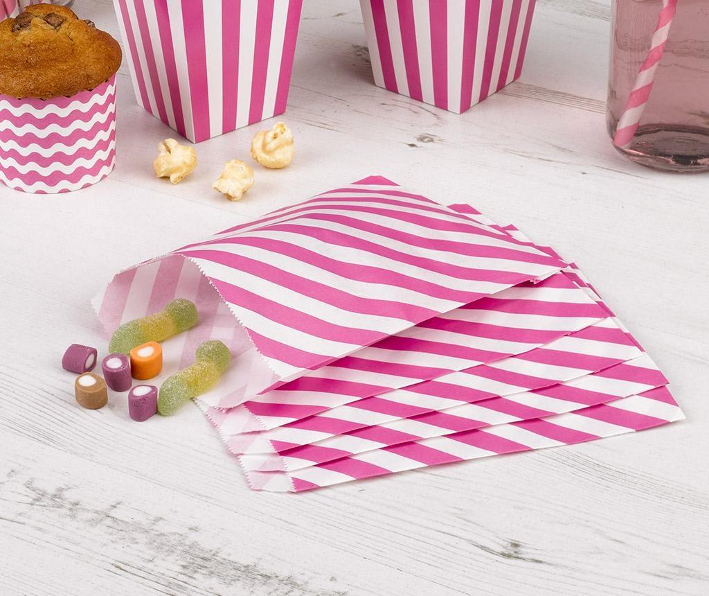 Set 24 omotnice za konfete Stripes Pink