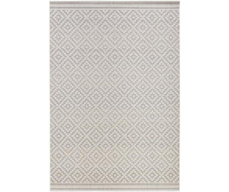 Covor de exterior Meadow Raute Grey Cream 140x200 cm