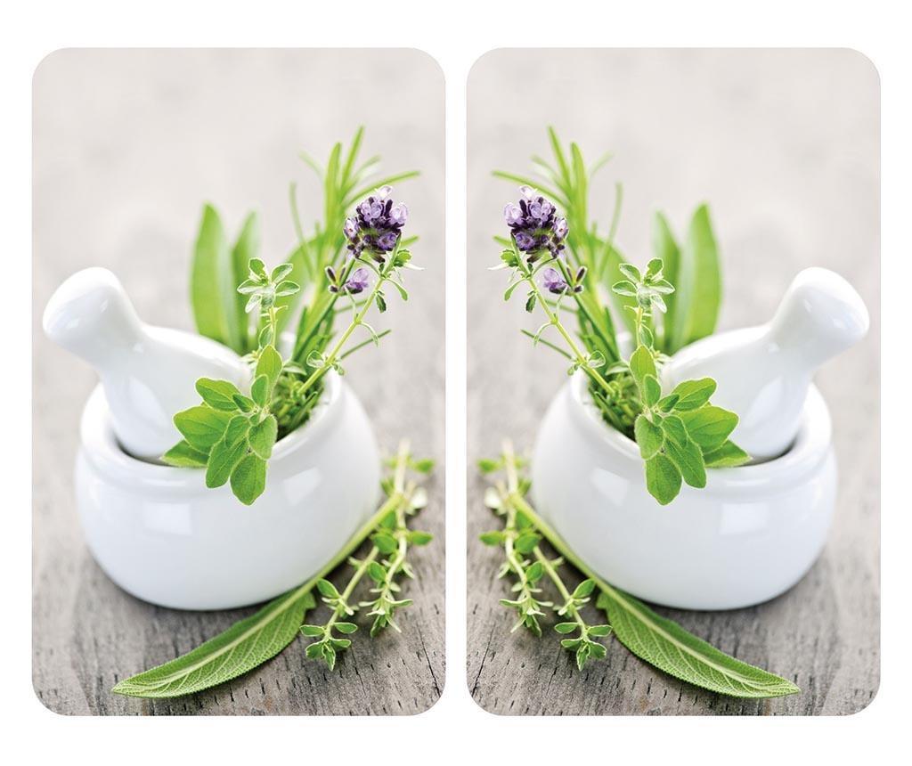 Set 2 planse protectoare pentru plita Herb Garden