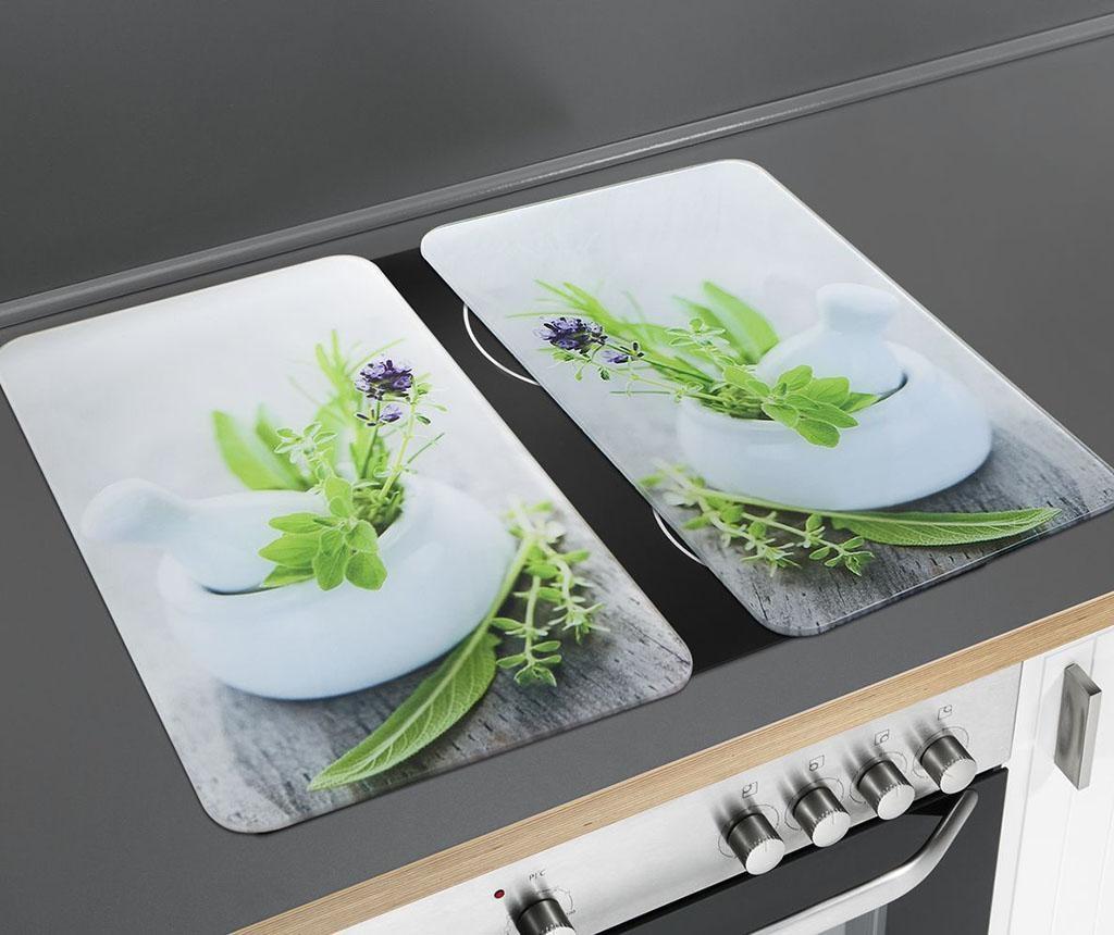 Set 2 zaščitnih plošč za štedilnik Herb Garden