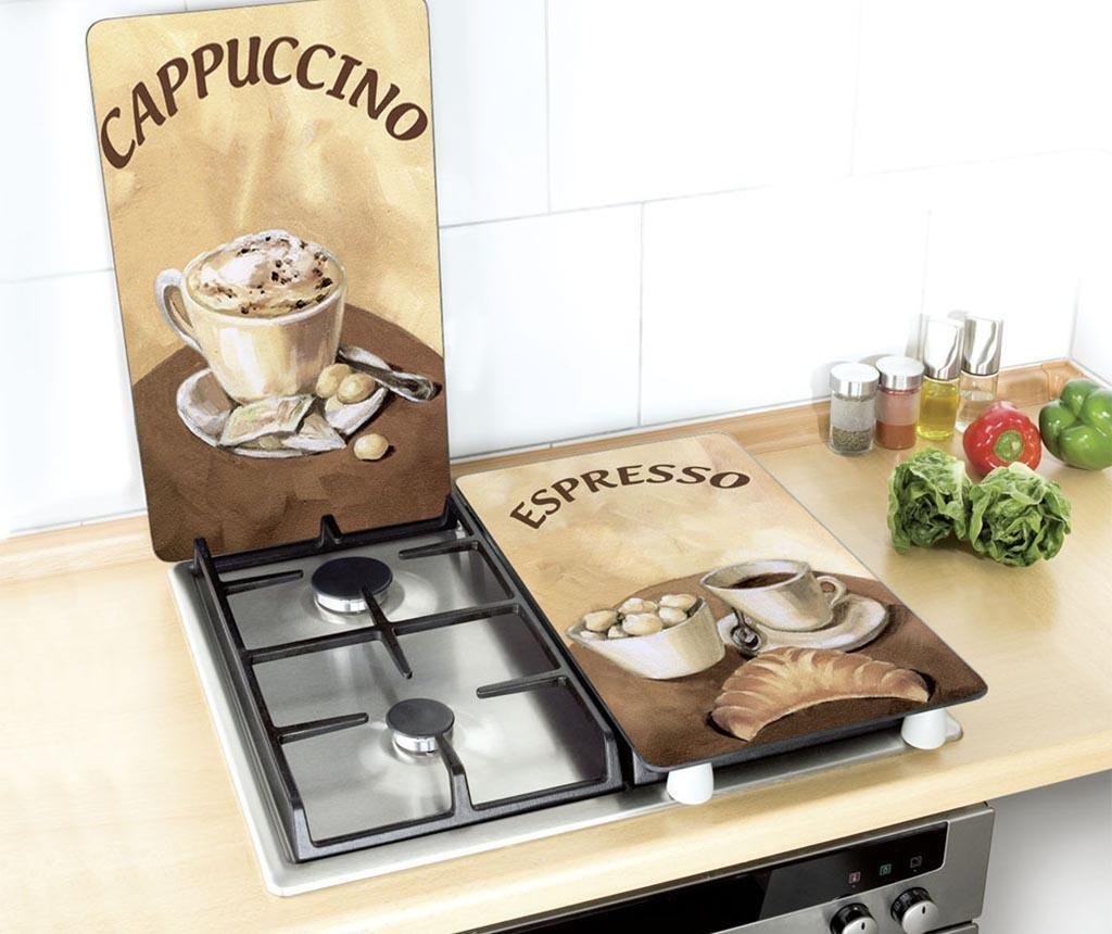 Set 2 planse protectoare pentru plita Coffee