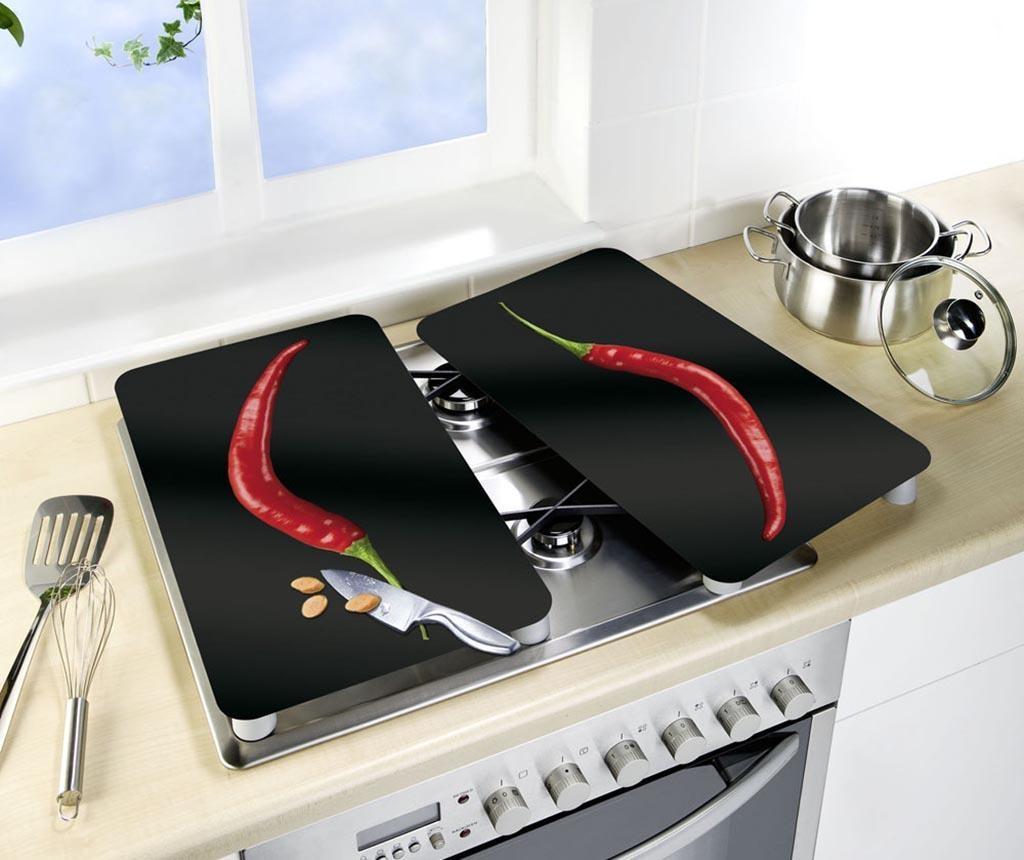 Set 2 zaščitnih plošč za štedilnik Peperoni