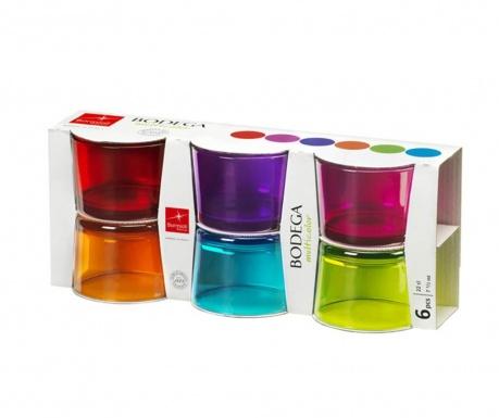 Set 6 čaša Bodega Multicolors 200 ml