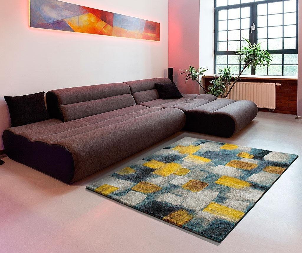 Covor Squares Yellow 120x170 cm