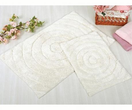 Waves Cream 2 db Fürdőszobai szőnyeg