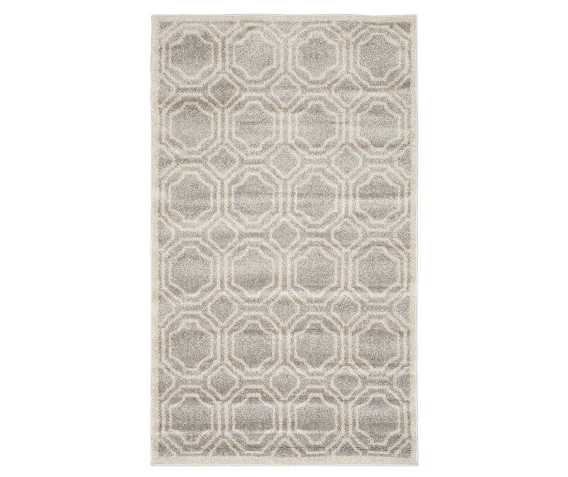 Covor Ferrat Light Grey Ivory 90x150 cm