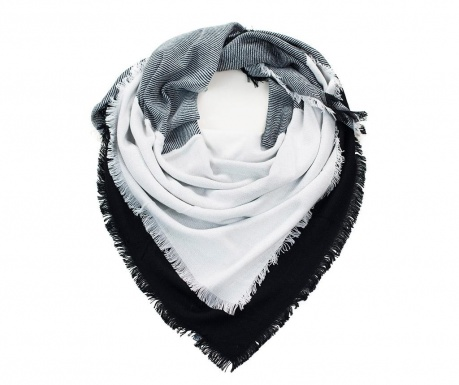 Linium White and Black Sál 140x140 cm