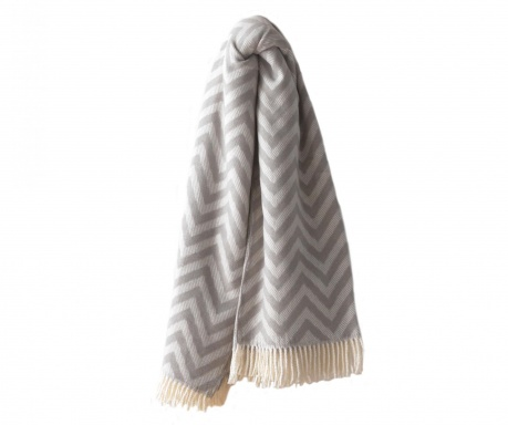 Chevron Light Grey Pléd 140x180 cm
