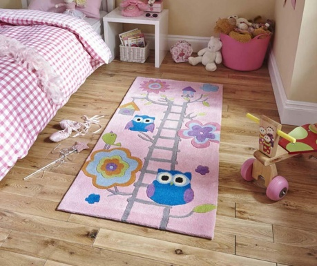 Koberec Owl on Ladder Pink 70x140 cm