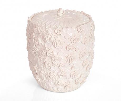 Kosz na śmieci z pokrywką Romantic Pearl Powder 5 L