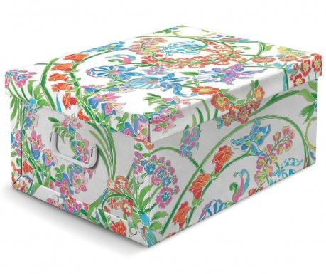 Κουτί με καπάκι για αποθήκευση Floral Vintage M