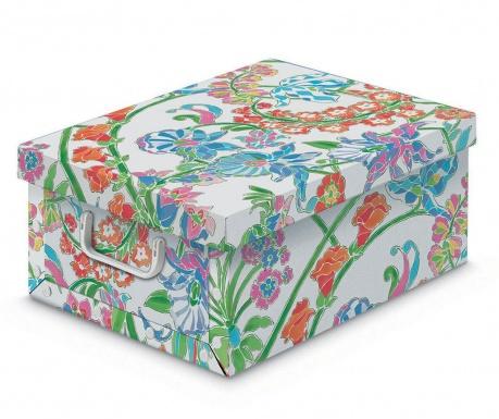 Κουτί με καπάκι για αποθήκευση Floral Vintage S