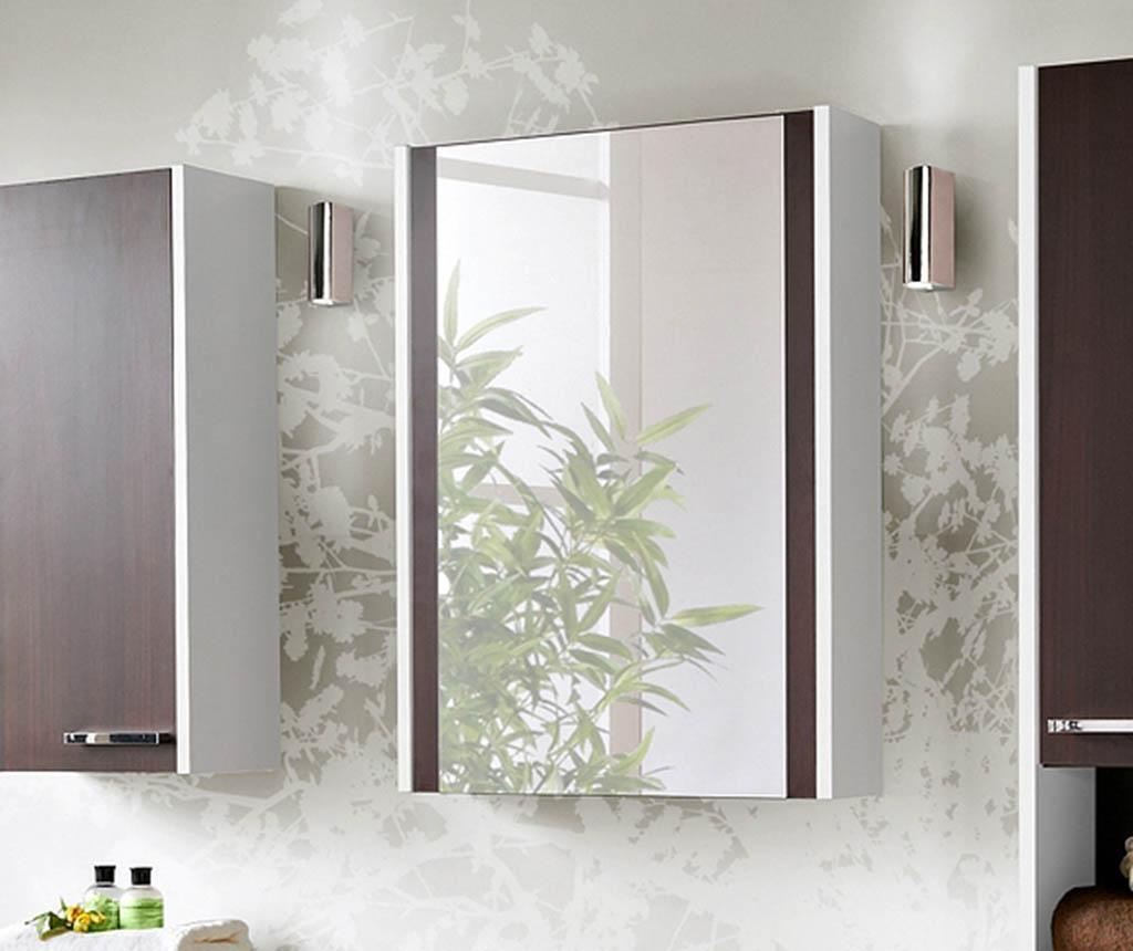 New York White Wenge Fali szekrény tükörrel