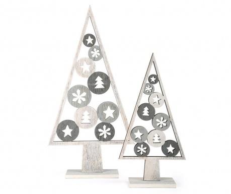 Σετ 2 διακοσμητικά Silver Tree