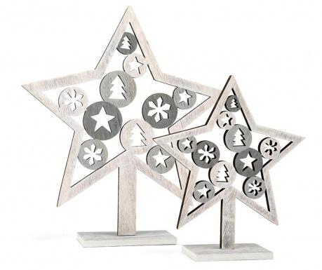 Σετ 2 διακοσμητικά Silver Star