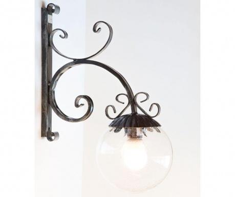 Zewnętrzna lampa ścienna Sfera Black
