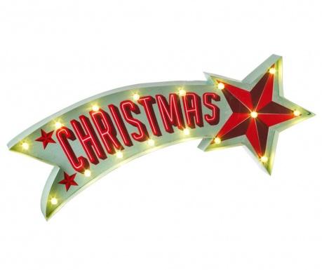 Decoratiune luminoasa de perete Christmas Star