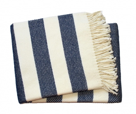 Candy Stripe Navy Blue Pléd 140x180 cm