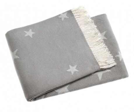 Stars Light Grey Pléd 140x180 cm