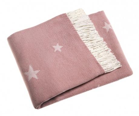 Stars Antique Pink Pléd 140x180 cm