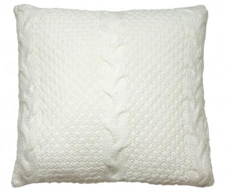 Διακοσμητικό μαξιλάρι Gliss Knitted White 45x45 cm