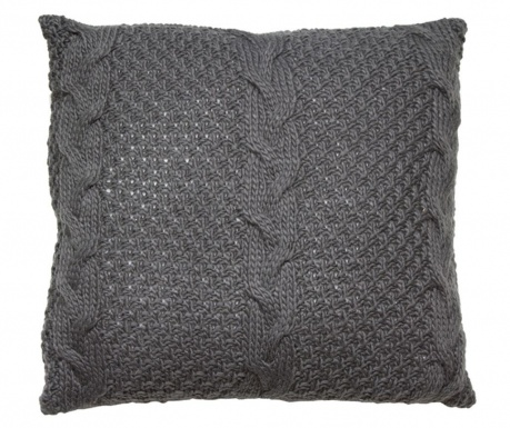 Διακοσμητικό μαξιλάρι Gliss Knitted Grey 45x45 cm