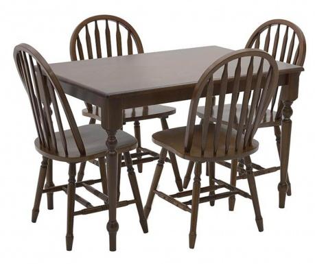 Fine Dark Brown Asztal és 4 db szék
