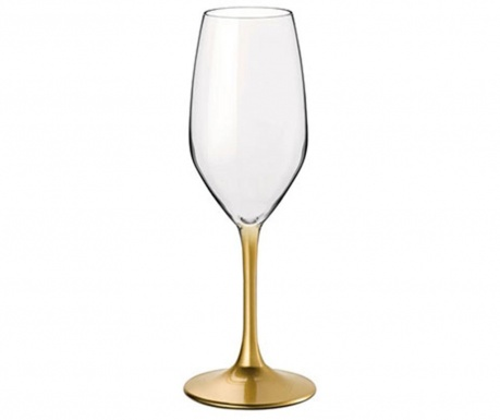 Zestaw 4 kieliszków do szampana Special Time Gold 240 ml
