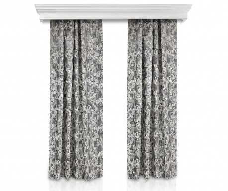 Set 2 zastora Windy Grey 140x260 cm