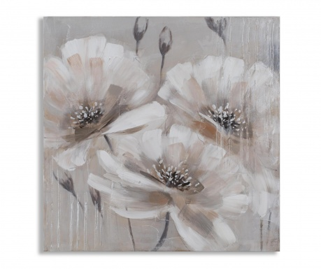 Obraz Beige Flowers 80x80 cm