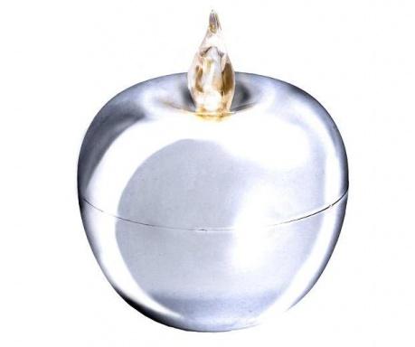 Свещ с LED Apple Silver