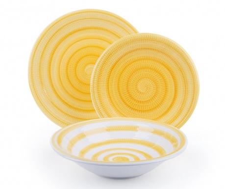 Σετ πιάτα φαγητού 18 τεμάχια Old Italy Yellow