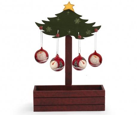 Decoratiune cu 4 globuri decorative Santa Claus