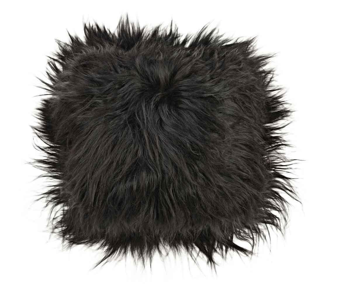 Perna de sezut Icelandic Long Black 37x37 cm