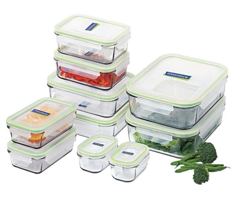 Set 10 zdjela s hermetičkim poklopcem Mailbox Micro Green