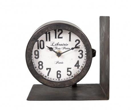 Zarážka na knihy s hodinami Time
