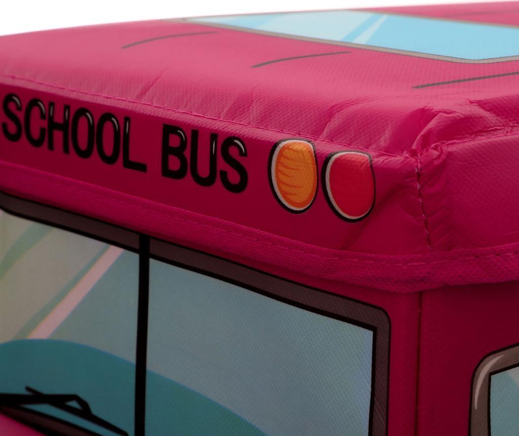 Cutie cu capac pentru depozitare jucarii Red School Bus