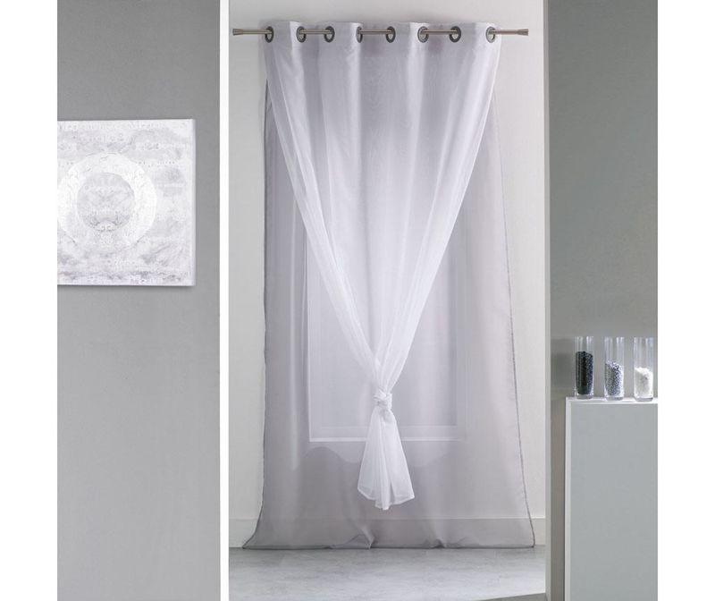 Perdea dubla Elegance Grey White 140x240 cm