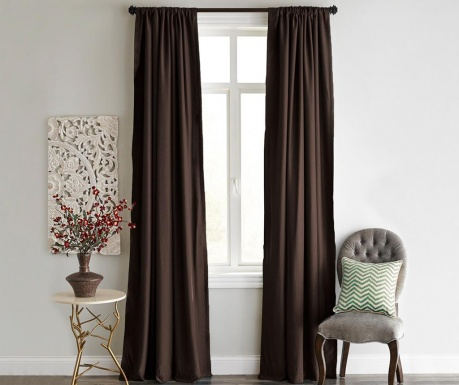 Zastor Blackout Dark Brown 140x240 cm