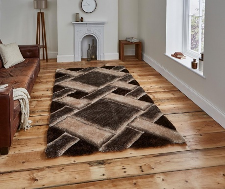 Tepih Noble House Modern Beige and Brown