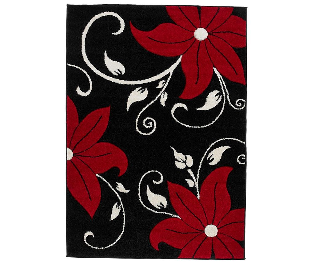 Koberec Verona Black and Red 60x120 cm