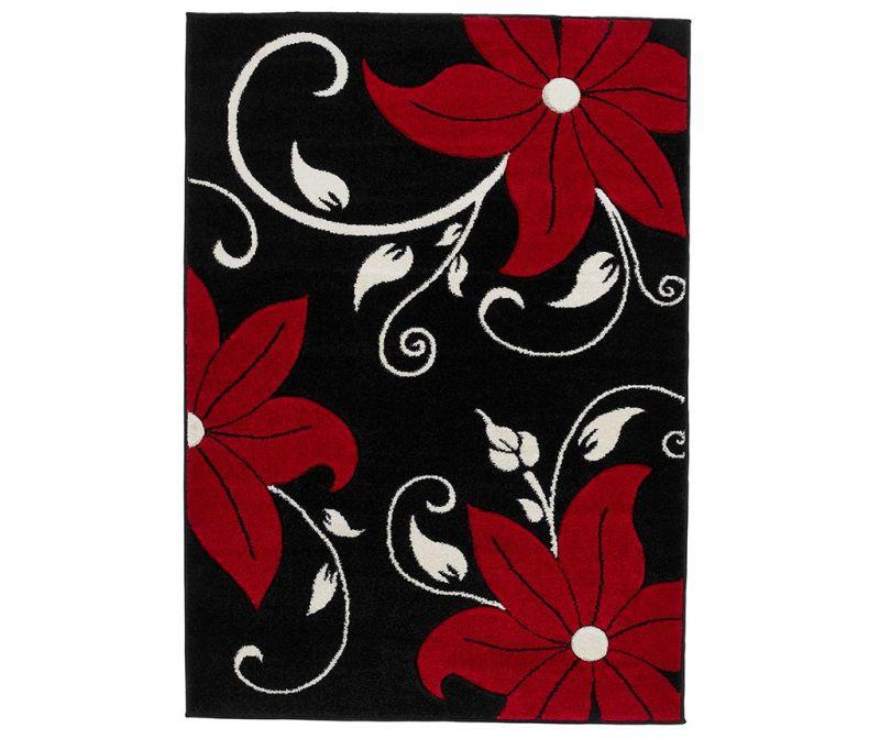 Tepih Verona Black and Red 60x120 cm