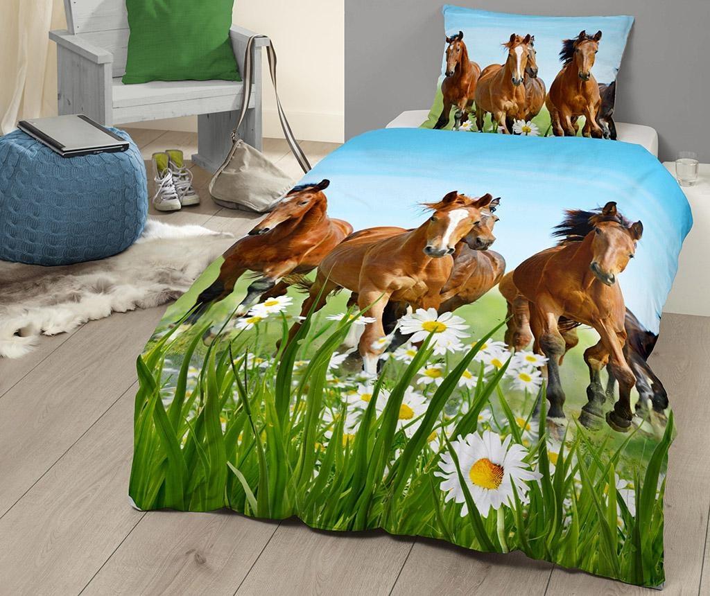 Ložní sada Single Ranforce Horses & Field