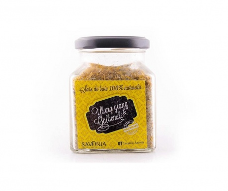 Kopalna sol z Ylang-Ylang in ognjičem Savonia 250 g