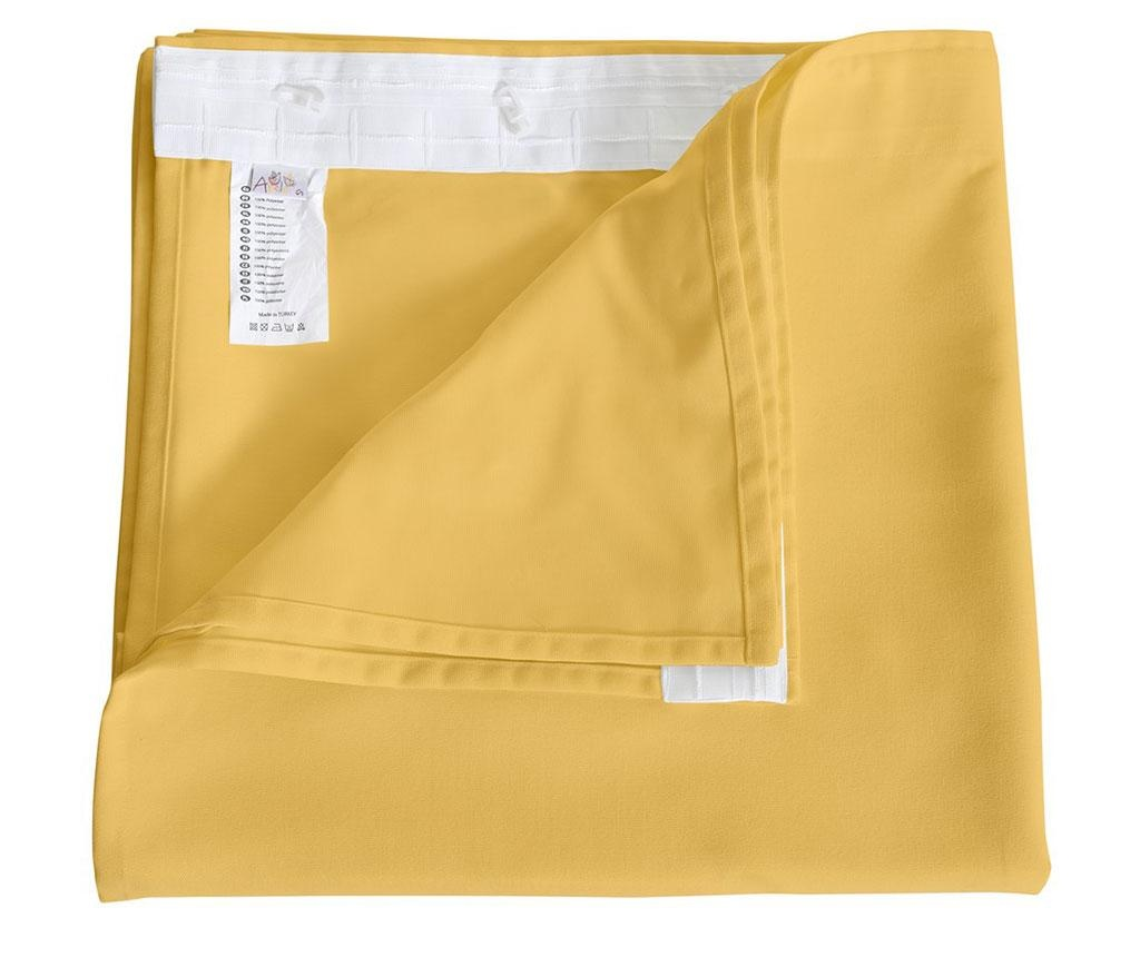 Zastor Plain Yellow 140x270 cm