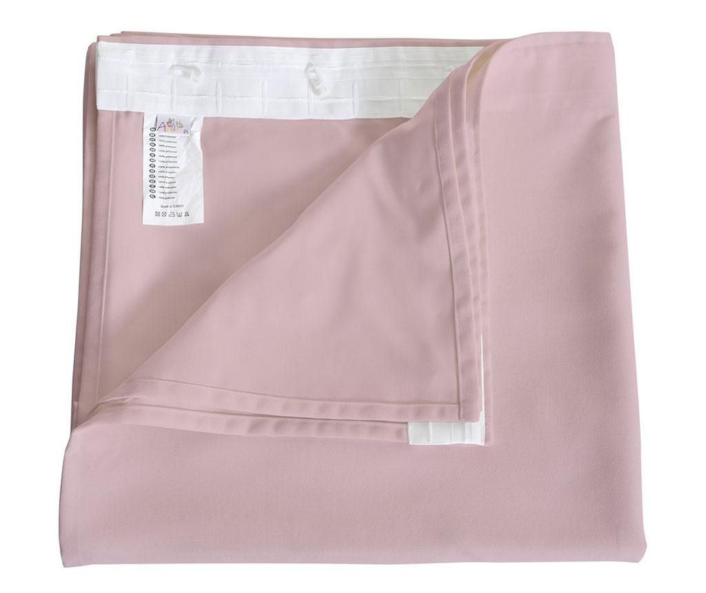 Zastor Plain Powder Pink 140x270 cm