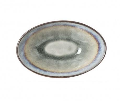 Fade Colors Oval Mélytányér